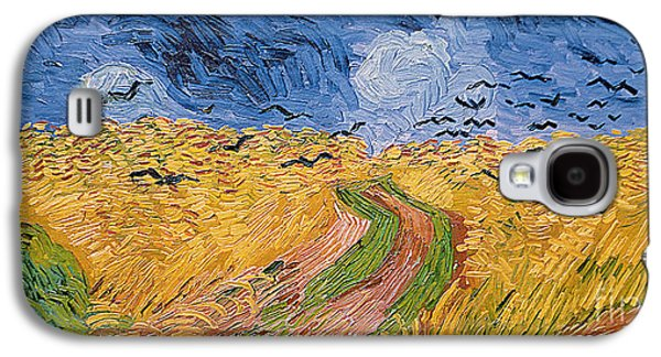 Crows Paintings Galaxy S4 Cases - Wheatfield with Crows Galaxy S4 Case by Vincent van Gogh