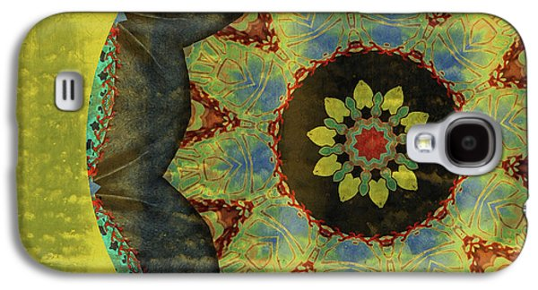 Abstract Digital Art Mixed Media Galaxy S4 Cases - Wheel of Time Galaxy S4 Case by Bonnie Bruno