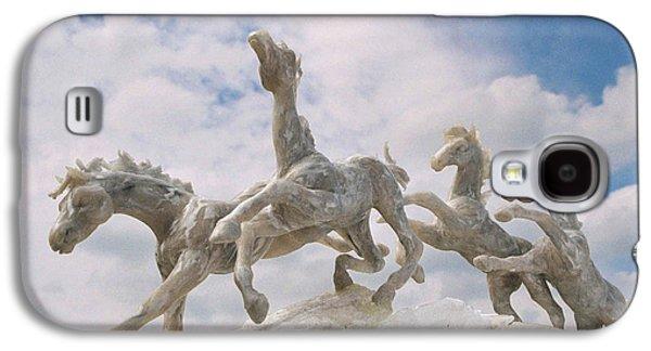 Sculptures Galaxy S4 Cases - When I Look Up 2 Galaxy S4 Case by Caroline Czelatko