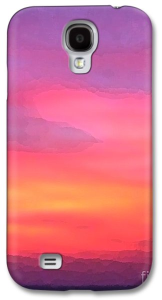 Sunset Abstract Galaxy S4 Cases - When the deep purple falls sunset Galaxy S4 Case by Barbie Corbett-Newmin