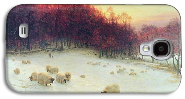 Pasture Scenes Galaxy S4 Cases - When the West with Evening Glows Galaxy S4 Case by Joseph Farquharson