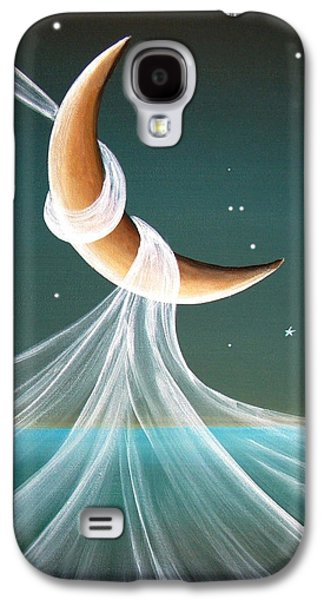 Moon Paintings Galaxy S4 Cases - When The Wind Blows Galaxy S4 Case by Cindy Thornton