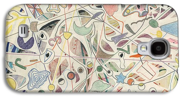 Abstract Collage Drawings Galaxy S4 Cases - Where Are You? Galaxy S4 Case by David Jacobi