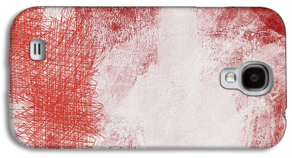 Red Abstract Mixed Media Galaxy S4 Cases - Where It Takes You- Abstract Art By Linda Woods Galaxy S4 Case by Linda Woods