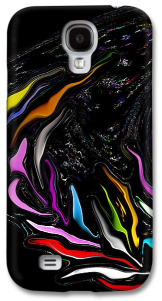 Recently Sold -  - Abstract Forms Galaxy S4 Cases - Where the Wild Neon Grows Galaxy S4 Case by Elva Robinson