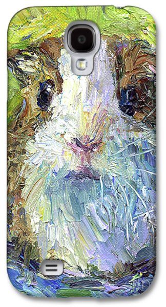Austin Drawings Galaxy S4 Cases - Whimsical Guinea Pig painting print Galaxy S4 Case by Svetlana Novikova