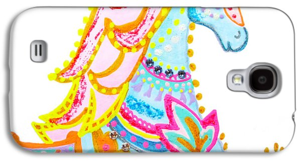 Puppy Digital Art Galaxy S4 Cases - Whimsical horse by Keira Lagunas Galaxy S4 Case by Keira  Lagunas