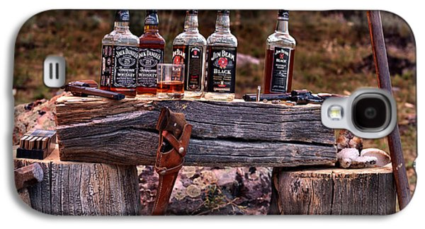 Whiskey And Guns Galaxy S4 Case by Leland D Howard