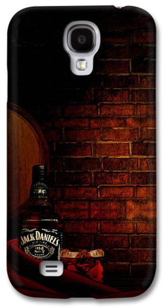 Grape Leaf Galaxy S4 Cases - Whiskey Fancy Galaxy S4 Case by Lourry Legarde