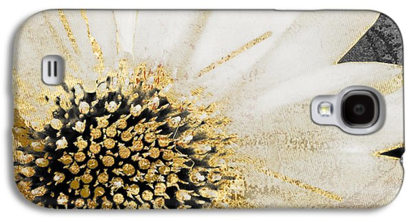 White And Gold Daisy Galaxy S4 Case by Mindy Sommers