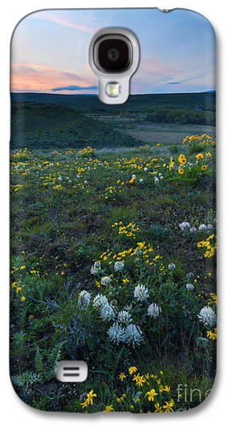 Yakima Valley Galaxy S4 Cases - White  and Gold Galaxy S4 Case by Mike Dawson