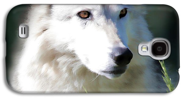 Puppies Galaxy S4 Cases - White Fang IV Galaxy S4 Case by Athena Mckinzie