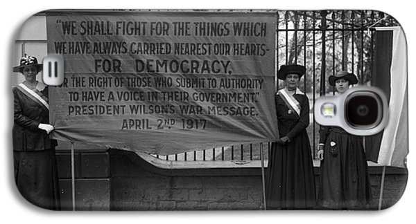 Protesters Galaxy S4 Cases - White House: Suffragettes Galaxy S4 Case by Granger