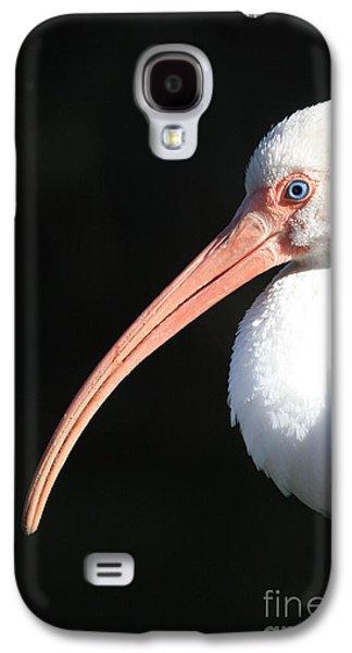 White Ibis Profile Galaxy S4 Case by Carol Groenen