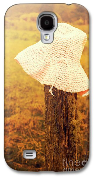 White Knitted Hat On Farm Fence Galaxy S4 Case by Jorgo Photography - Wall Art Gallery