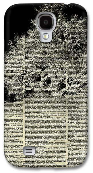 Surreal Landscape Drawings Galaxy S4 Cases - White Lonley Tree Dictionary Art Galaxy S4 Case by Jacob Kuch