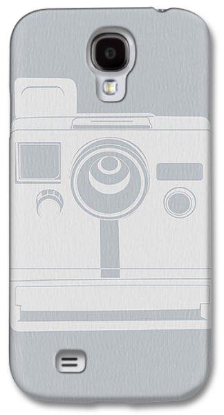 Camera Galaxy S4 Cases - White Polaroid Camera Galaxy S4 Case by Naxart Studio
