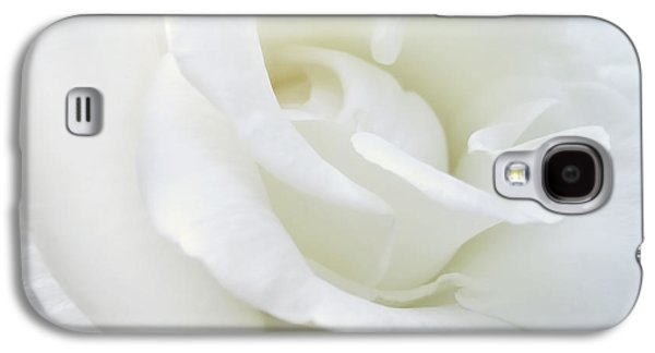 White Rose Angel Wings Galaxy S4 Case by Jennie Marie Schell