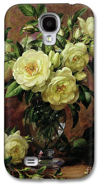 White Roses - A Gift From The Heart Galaxy S4 Case by Albert Williams