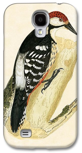 White Rumped Woodpecker Galaxy S4 Case by English School
