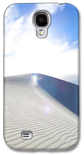 Blue Abstracts Galaxy S4 Cases - White Sands Angel Galaxy S4 Case by Feather Redfox