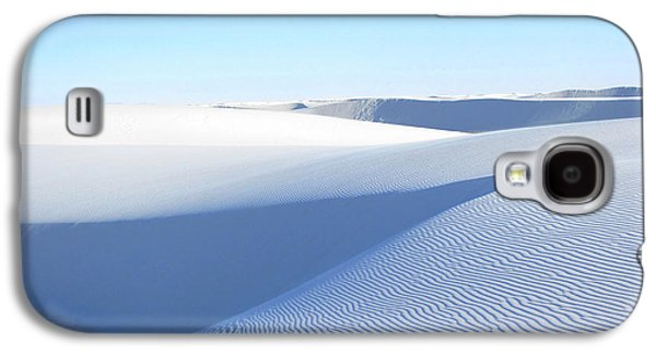 Blue Abstracts Galaxy S4 Cases - White Sands Blues #2 Galaxy S4 Case by Feather Redfox