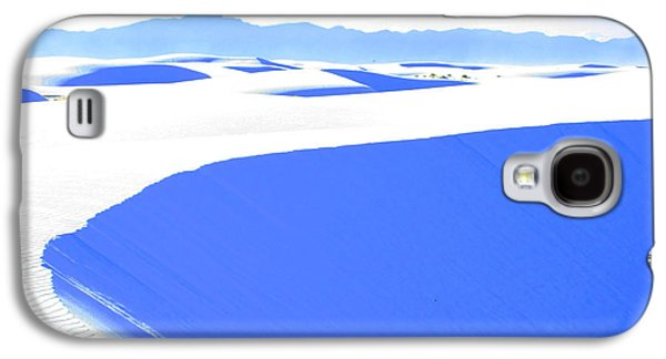 Blue Abstracts Galaxy S4 Cases - White Sands Blues Galaxy S4 Case by Feather Redfox