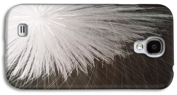 Contemporary Art Glass Art Galaxy S4 Cases - White Spark Galaxy S4 Case by Robert Zeman