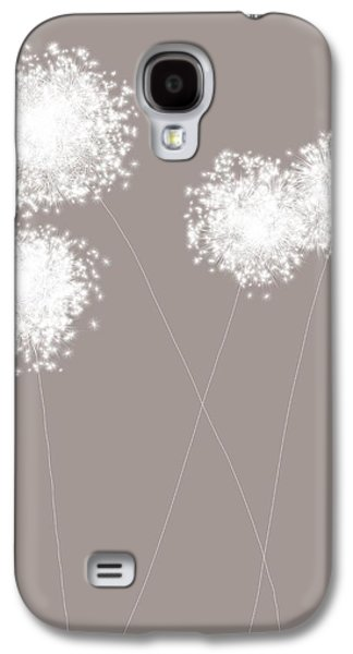 Abstract Nature Galaxy S4 Cases - White Sparks Galaxy S4 Case by Teri Martin