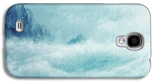 Etc. Paintings Galaxy S4 Cases - White Storm Galaxy S4 Case by Paul Rowe