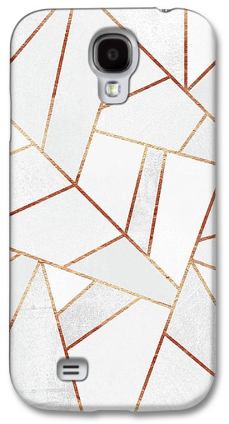 White Stone And Copper Lines Galaxy S4 Case by Elisabeth Fredriksson