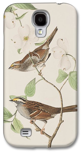 White Throated Sparrow Galaxy S4 Case by John James Audubon