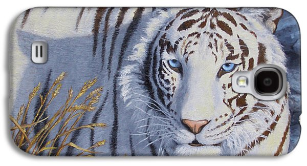 White Tiger - Crystal Eyes Galaxy S4 Case by Crista Forest
