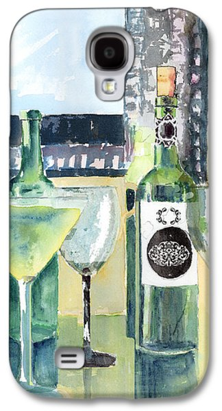 Bottle Of Wine Galaxy S4 Cases - White Wine Galaxy S4 Case by Arline Wagner