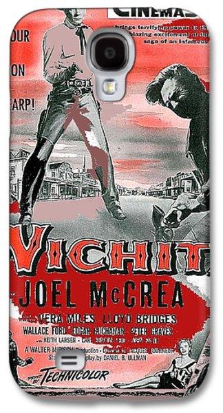 Wichita Movie Poster Joel Mccrea As Wyatt Earp 1955-2015 Galaxy S4 Case by David Lee Guss