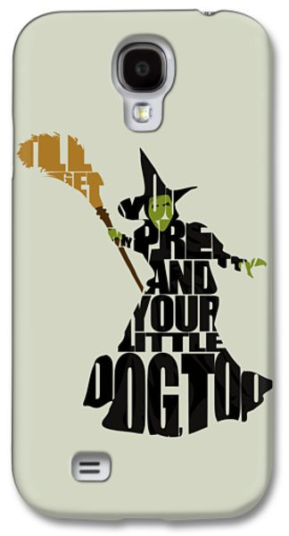 Drawing Digital Galaxy S4 Cases - Wicked Witch of the West Galaxy S4 Case by Ayse Deniz