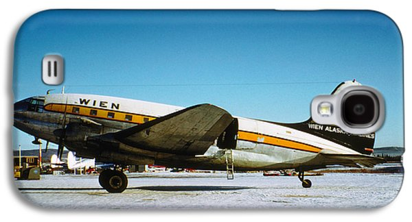 Wien Alaska Airlines Curtiss-wright Cw-20 N1548v Galaxy S4 Case by Wernher Krutein