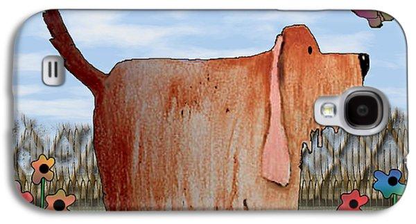 Dogs Digital Art Galaxy S4 Cases - Wilbur Galaxy S4 Case by Arline Wagner