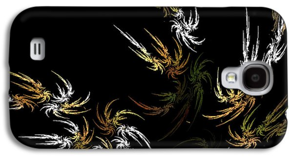 Abstract Digital Mixed Media Galaxy S4 Cases - Wild and Free Galaxy S4 Case by Bonnie Bruno