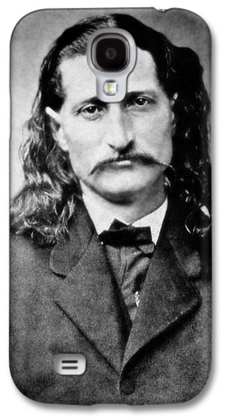 Civil War Galaxy S4 Cases - Wild Bill Hickok - American Gunfighter Legend Galaxy S4 Case by Daniel Hagerman