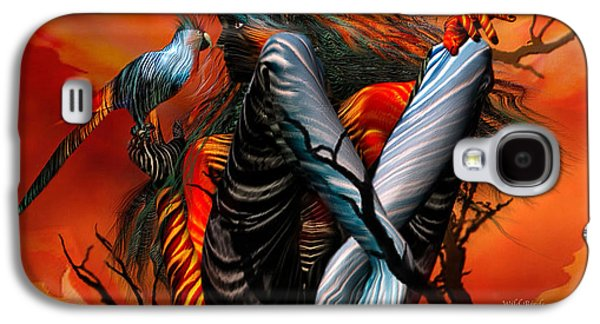 The Trees Mixed Media Galaxy S4 Cases - Wild Birds Galaxy S4 Case by Carol Cavalaris