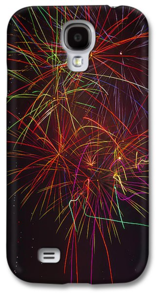Wild Colorful Fireworks Galaxy S4 Case by Garry Gay
