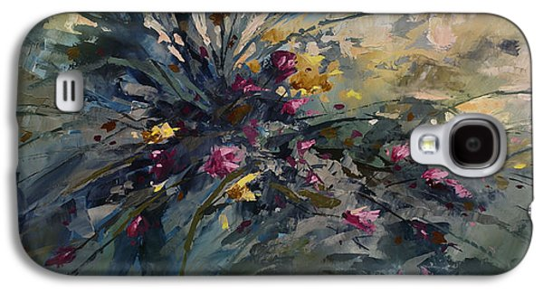 Pallet Knife Galaxy S4 Cases - Wild Flowers Galaxy S4 Case by Michael Lang
