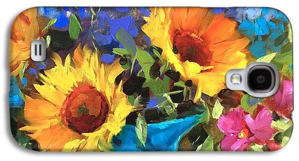 Wild Garden Sunflowers Galaxy S4 Case by Nancy Medina