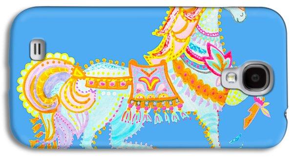 Puppy Digital Art Galaxy S4 Cases - Wild horse by Keira Lagunas Galaxy S4 Case by Keira  Lagunas