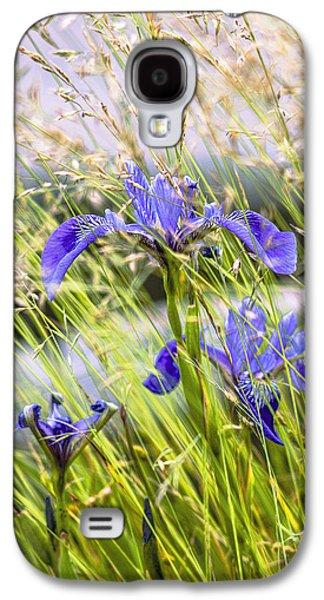 Coastal Maine Galaxy S4 Cases - Wild Irises Galaxy S4 Case by Marty Saccone