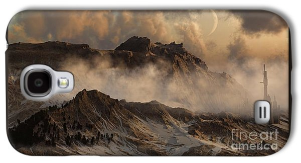 Science Fiction Sculptures Galaxy S4 Cases - Wild Winds Galaxy S4 Case by Dave Luebbert