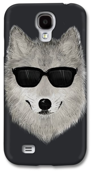 Wild Wolf From 80s - V01 Galaxy S4 Case by David Ardil