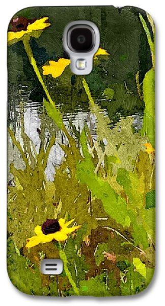Abstracted Coneflowers Digital Galaxy S4 Cases - Wild Yellow Coneflowers 10 Galaxy S4 Case by Don Berg