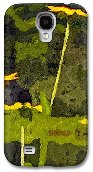 Abstracted Coneflowers Digital Galaxy S4 Cases - Wild Yellow Coneflowers 13 Galaxy S4 Case by Don Berg